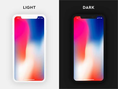 iPhone X Light and Dark Mockup