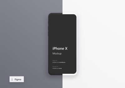iPhone X Minimalistic Mockups