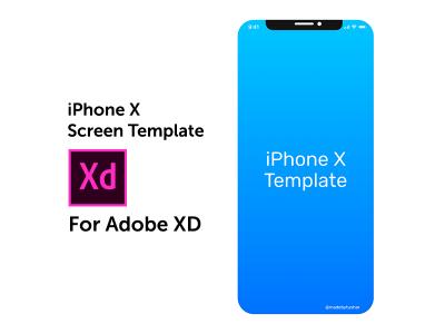 iPhone X screen template mockup