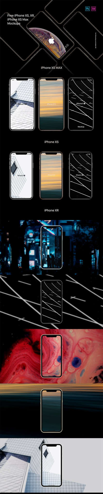 iPhone XR Free Mockup