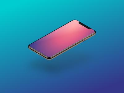 iPhone XS isometric mockup