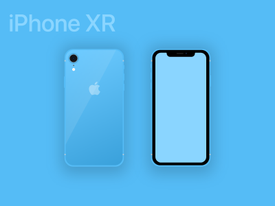 iPhone XS & XR Mockups for XD