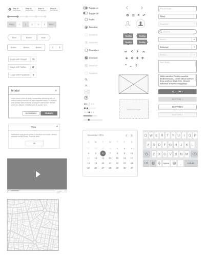 Ironhack Free Wireframe UI Kit for Figma
