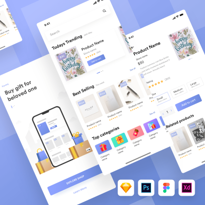 Kamartaj Gift Shop UI Kit for Figma