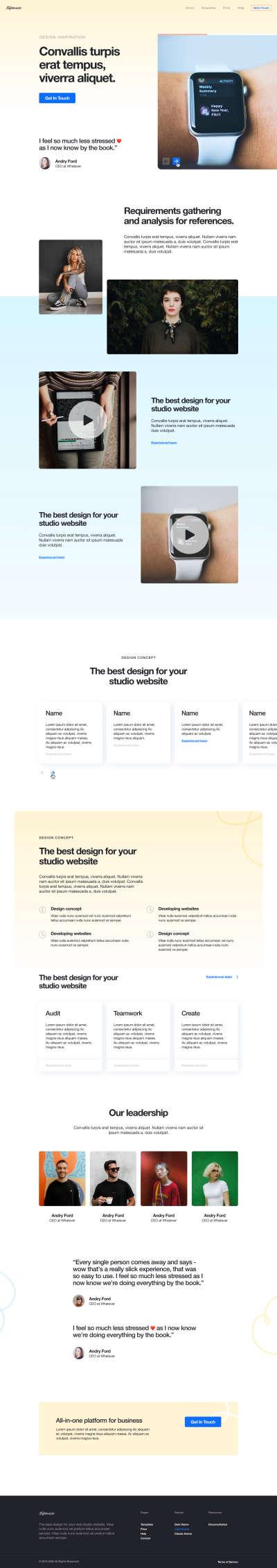 Landing Page Free UI Kit for Figma