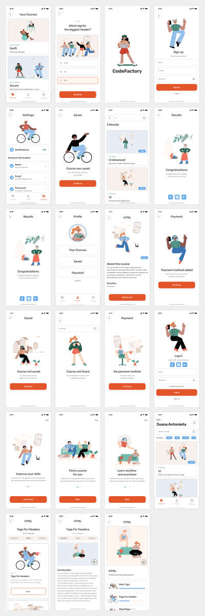 Learning Free Mobile App for Figma