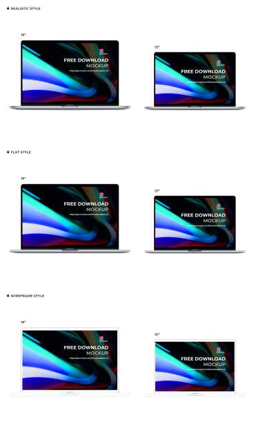 "MacBook Pro 16"" & Air 13"" Free Mockup for Figma"