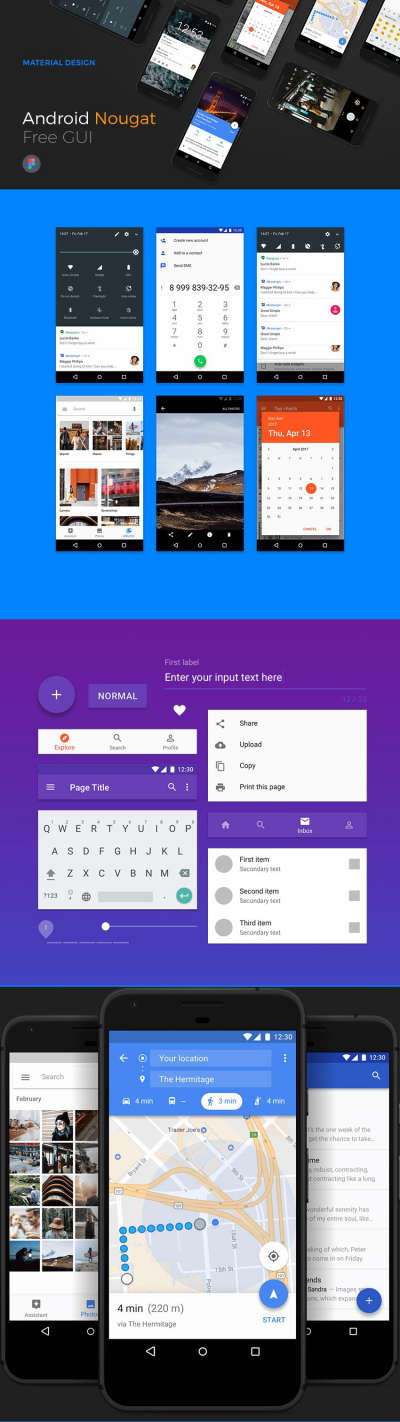 Android Nougat Free GUI