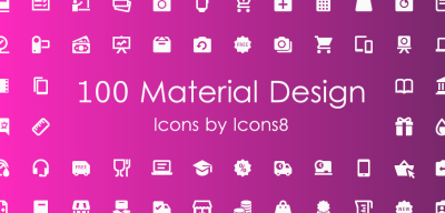 100 Material Icons mix by Icons8