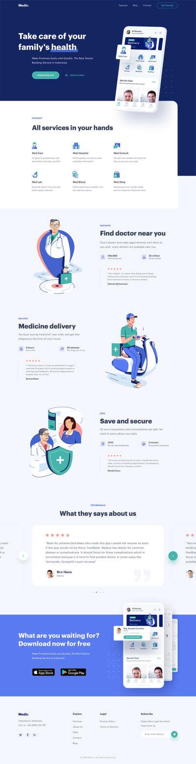 Doctor Service Web Theme