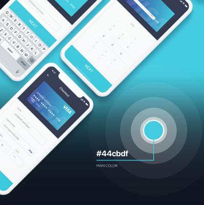 Mobile checkout UI concept