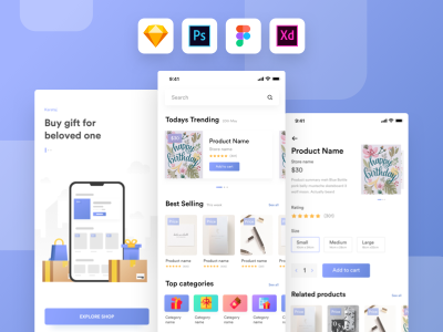 Mobile gift shop XD freebie
