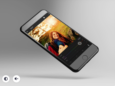 Mobile photo filter animation