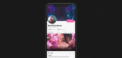 Mobile XD scrolling interaction