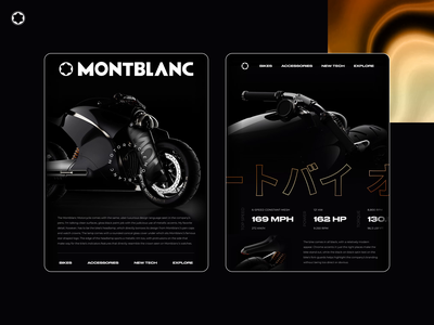 Montblanc - Motorcycle tablet concept design