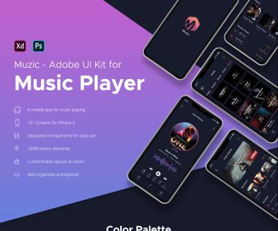 Muzic – Free music XD UI kit
