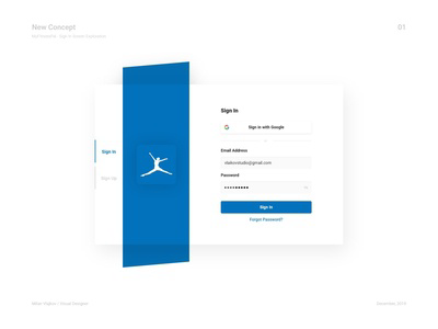 MyFitnessPal - Sign In Screen Exploration + Grid System & Sizes