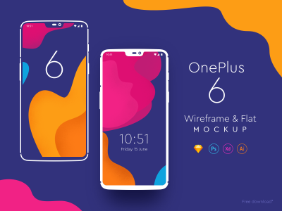One Plus 6 – Free XD Mockups