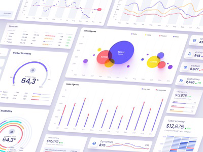 Orion UI kit - Charts templates & infographics in Figma