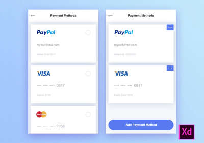 Payment Methods Free UI Kit