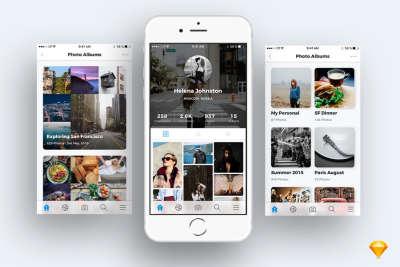 Photo Sharing App UI Kit
