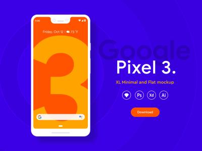Pixel 3 XL mockups - Freebies