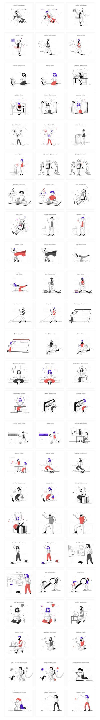 Pixeltrue Free Illustrations for Figma