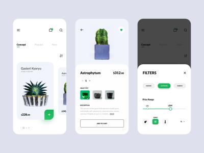 Plant Shop // E-commerce App Design