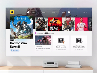 PlayStation 5 Concept UI - InVision Studio