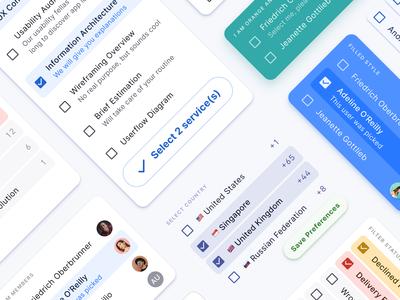React & Figma design system - Checkbox UI design
