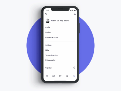 Reader - Account Options