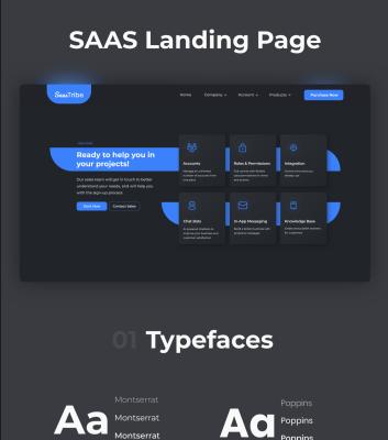 Saas Tribe free XD website template