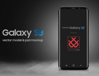 Galaxy S8 Vector Mockup