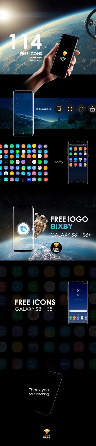 Free Icons Galaxy S8 | S8+