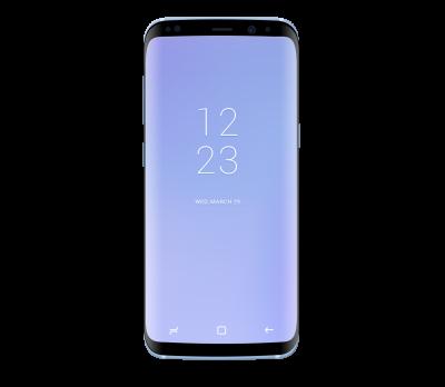 Galaxy S8 Coral Blue Mockup