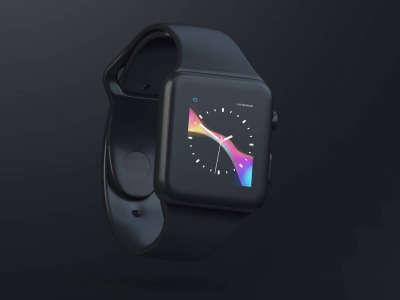 Apple Watch Black Clay Mockup