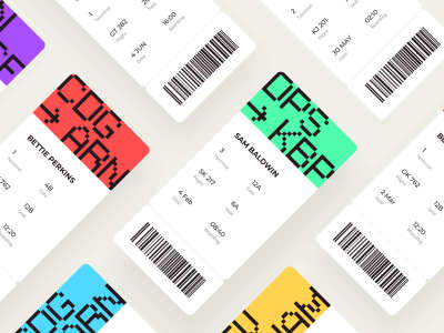 Boarding Pass UI Kit