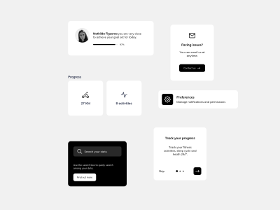 Fitness App Components