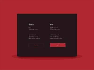 Pricing Card
