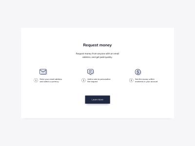 Request Money UI Design