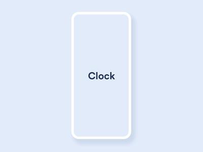 Skeuomorph Clock App - Prototype