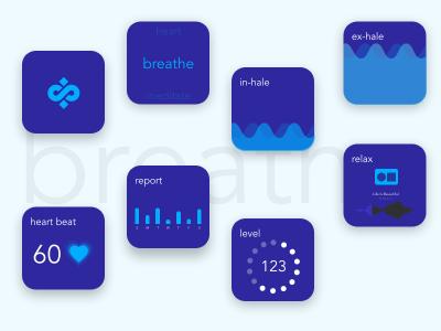 Smart watch app XD animation