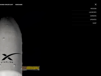 SpaceX animated website concept