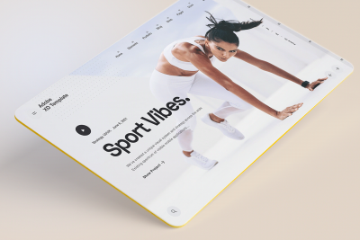 Sport vibes XD homepage templates