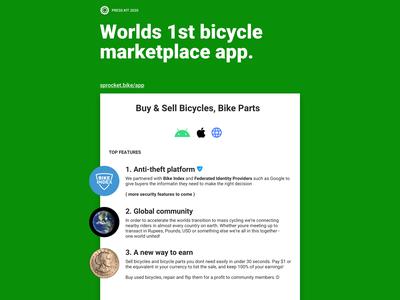 Sprocket App Press Kit PDF & .Sketch Template