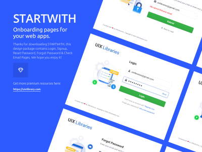 STARTWITH - Login Signup Framework Freebie