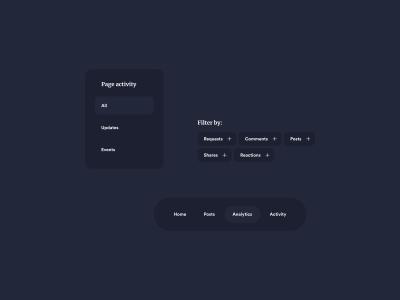 Dark Themed UI Components
