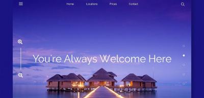 Tahiti Travel UI card