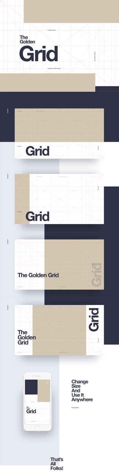 Golden Ratio Grid Freebie