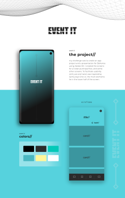 Ticket purchase XD app concept
